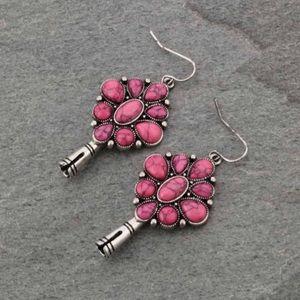 3D Single Squash Blossom Fish Hook Earrings